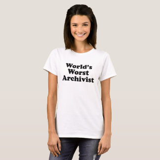 Worlds' Worst Archivist T-Shirt