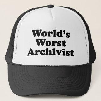 Worlds' Worst Archivist Trucker Hat