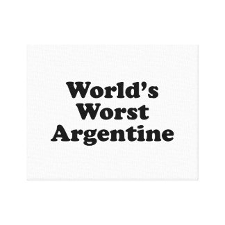 World's Worst Argentine Canvas Print