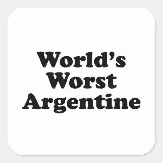 World's Worst Argentine Square Sticker