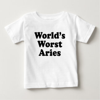 World's Worst Aries Baby T-Shirt