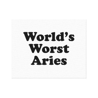 World's Worst Aries Canvas Print