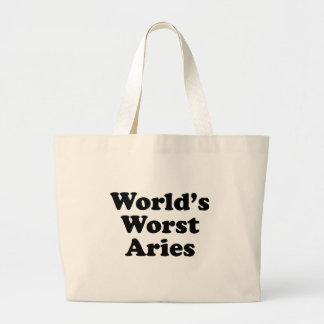 World's Worst Aries Large Tote Bag