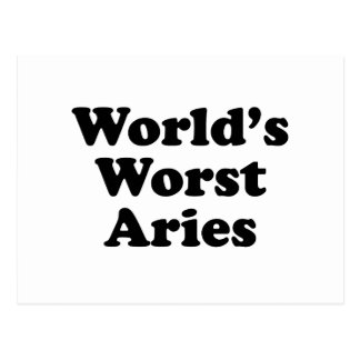 World's Worst Aries Postcard