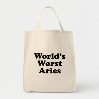 World's Worst Aries Tote Bag
