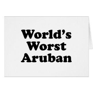 World's Worst Aruban Card