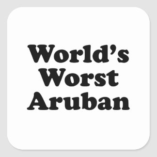 World's Worst Aruban Square Sticker