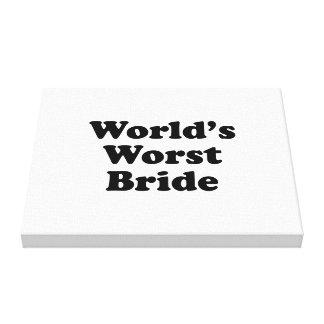 World's Worst Bride Gallery Wrap Canvas