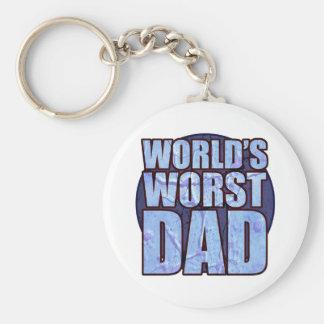 World's Worst Dad keychain