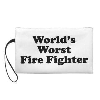 World's Worst Fire Fighter Wristlet Clutch