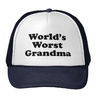 World's Worst Grandma Cap