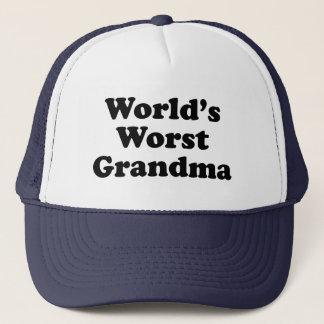 World's Worst Grandma Trucker Hat
