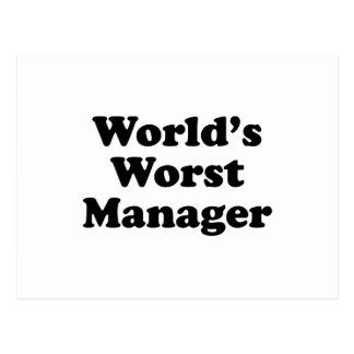 World's Worst Manager Postcard