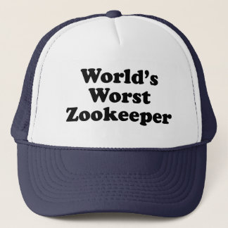 world's worst zookeeper trucker hat