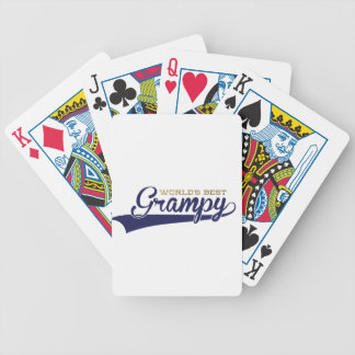 WorldsBestGrampyTee-01 Bicycle Playing Cards