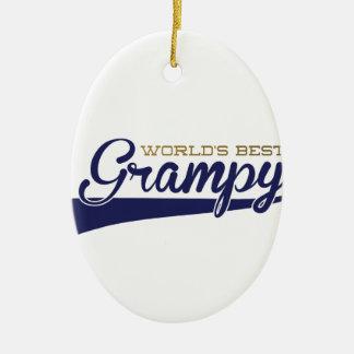 WorldsBestGrampyTee-01 Ceramic Ornament