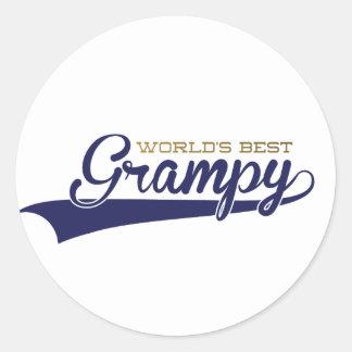 WorldsBestGrampyTee-01 Classic Round Sticker