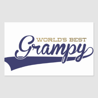 WorldsBestGrampyTee-01 Rectangular Sticker