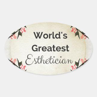 World'sGreatest Esthetician Oval Sticker