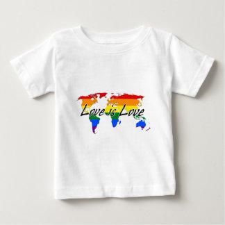 Worldwide Gay Pride Love Is Love Baby T-Shirt