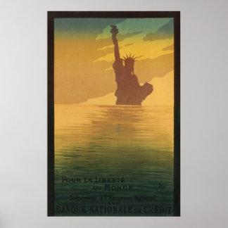 Worldwide Liberty Statue New York Advertisement Poster