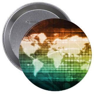 Worldwide Technology and Mass Adoption of New Tech 10 Cm Round Badge