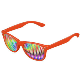 Worm Hole Fractal Art Orange Kids Sunglasses