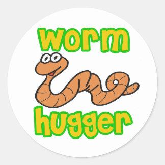 Worm Hugger Round Sticker