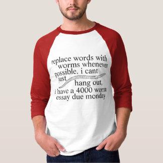 worm tshirt