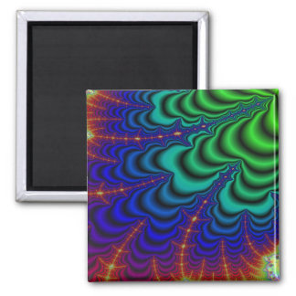 Wormhole Fractal Space Tube Square Magnet