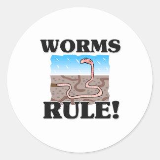 WORMS Rule! Round Sticker