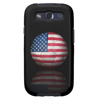 Worn American Flag Football Soccer Ball Galaxy S3 Cover