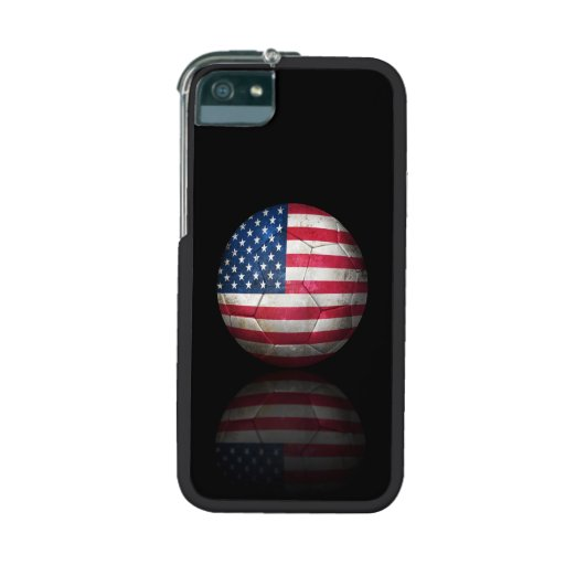 Worn American Flag Football Soccer Ball Cover For iPhone 5/5S