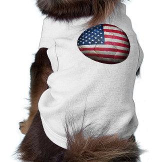Worn American Flag Football Soccer Ball Dog Clothes