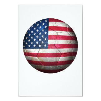 Worn American Flag Football Soccer Ball Announcement