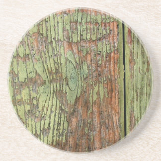 Worn and Weathered Barn Wood Drink Coaster