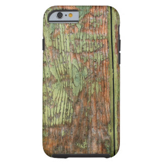 Worn and Weathered Green Paint Tough iPhone 6 Case
