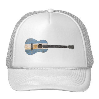 Worn Argentinian Flag Acoustic Guitar Mesh Hats