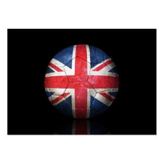 Worn British Flag Football Soccer Ball Business Cards