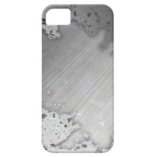 Worn Brushed Metal (faux) Layout iPhone 5 Cases