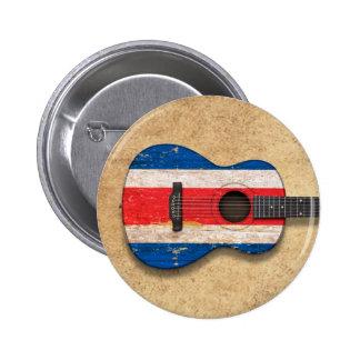 Worn Costa Rica Flag Acoustic Guitar Pin