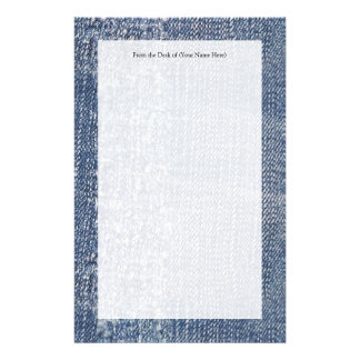 Worn Denim Jeans-Look Stationery