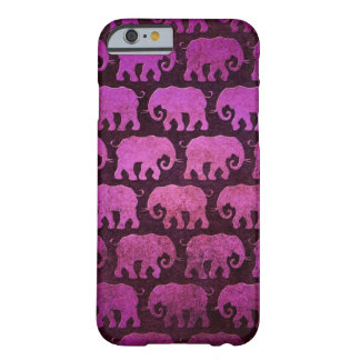 Worn Elephant Silhouettes Pattern, purple Barely There iPhone 6 Case