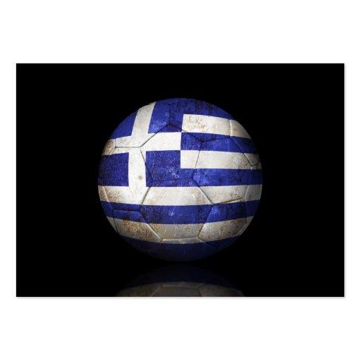 Worn Greek Flag Football Soccer Ball Business Card