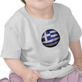 Worn Greek Flag Football Soccer Ball Tshirts