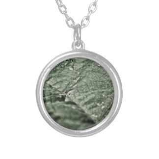 Worn green leaf jewelry