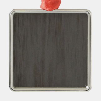 Worn Grungy Brushed Metal Silver-Colored Square Decoration