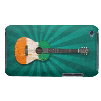 Worn Ivory Coast Flag Acoustic Guitar, teal iPod Case-Mate Cases