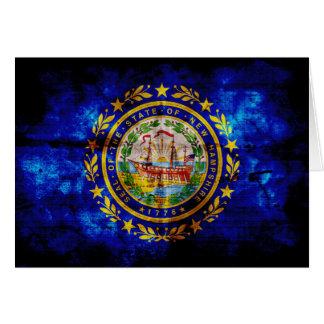 Worn New Hampshire Flag; Greeting Card
