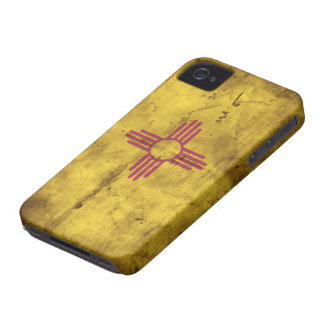 Worn New Mexico Flag; Case-Mate iPhone 4 Case
